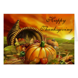 Thanksgiving Greeting Card with Quote