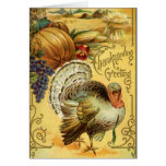 Thanksgiving Greeting with a Turkey Greeting Card