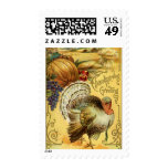 Thanksgiving Greeting with a Turkey Stamp