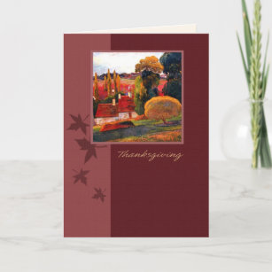 Vintage autumn painting cards zazzle thanksgiving greetings fine art greeting cards m4hsunfo