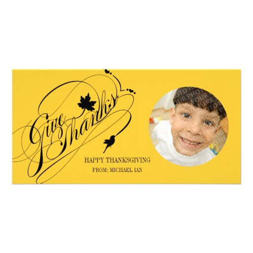Thanksgiving Greetings Personalized Photo Card