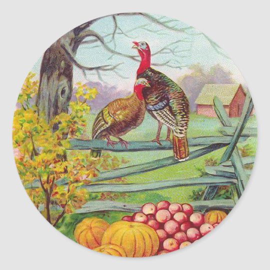 """Thanksgiving Greetings"" Sticker"
