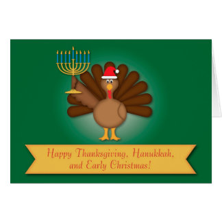 Thanksgiving, Hanukkah, Christmas Card