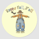 Thanksgiving Happy Fall Round Stickers