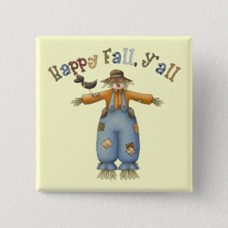 Thanksgiving Happy Fall Square Button