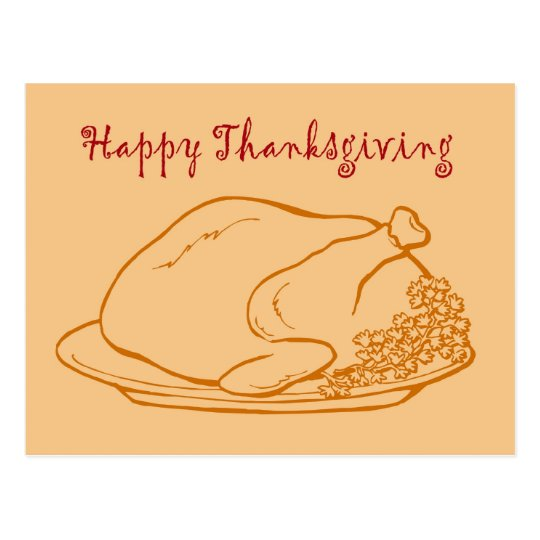 Thanksgiving Happy Thanksgiving Turkey Give Thanks Postcard