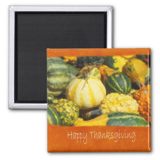 Thanksgiving Harvest 2 - Happy Thanksgiving 2 Inch Square Magnet