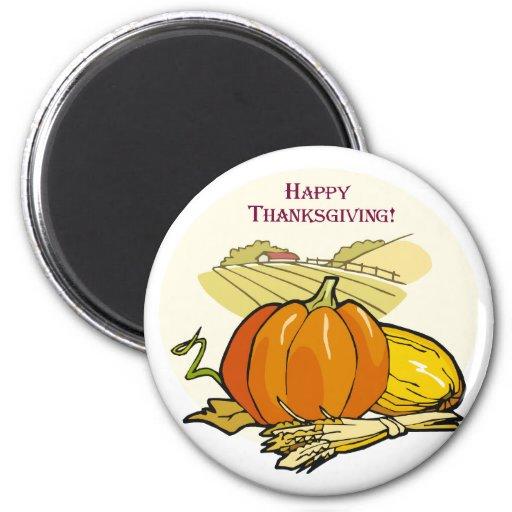 Thanksgiving Harvest 2 Inch Round Magnet