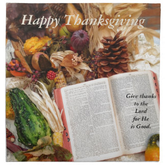 Thanksgiving Harvest and Bible Napkin