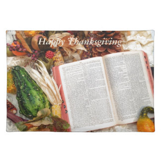 Thanksgiving Harvest and Bible Placemat
