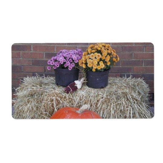 Thanksgiving Harvest Fall Scene Label