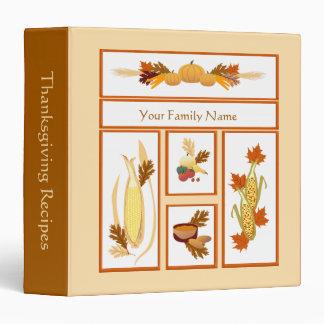 Thanksgiving Harvest Food Design Recipe Binder