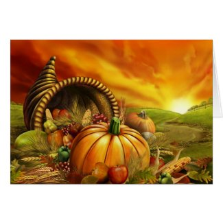 Thanksgiving Harvest Greeting Card