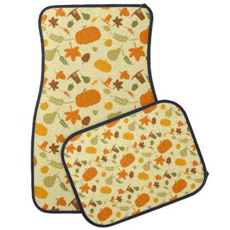 Thanksgiving Harvest Pattern Car Floor Mat