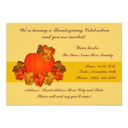 Thanksgiving Harvest Pumpkin Card