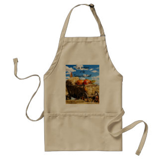 Thanksgiving Harvest Wagon Adult Apron
