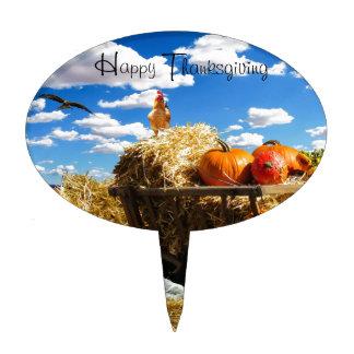Thanksgiving Harvest Wagon Cake Topper