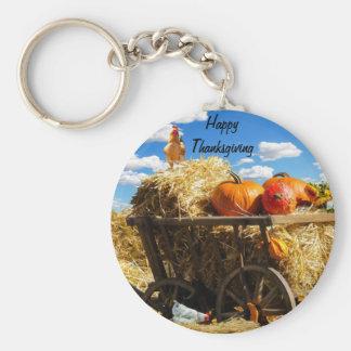 Thanksgiving Harvest Wagon Keychain