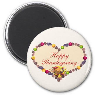 Thanksgiving Heart and Cornucopia Magnet