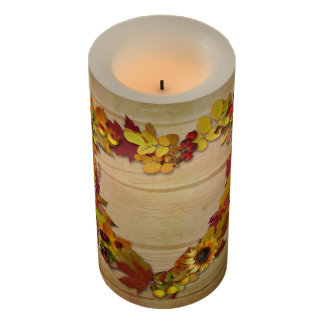 Thanksgiving Heart Medium Flameless Candle