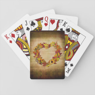 Thanksgiving Heart Playing Cards