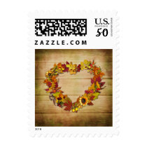 Thanksgiving Heart Postage Stamp