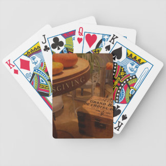 Thanksgiving Hideaway Bicycle Playing Cards