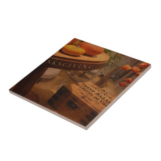 Thanksgiving Hideaway Ceramic Tile