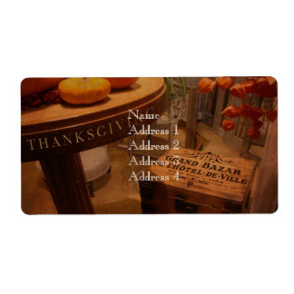 Thanksgiving Hideaway Label