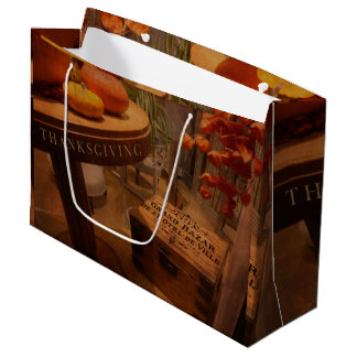 Thanksgiving Hideaway Large Gift Bag