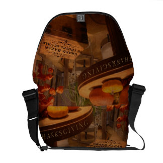 Thanksgiving Hideaway Messenger Bag