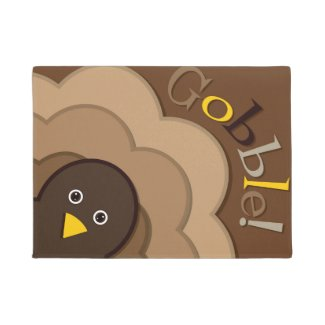 Thanksgiving hiding turkey doormat