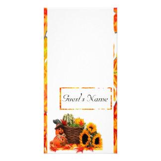 Thanksgiving Holiday, Pumpkin, Squash, Sunflowers Photo Greeting Card