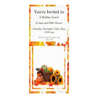 Thanksgiving Holiday, Pumpkin, Squash, Sunflowers Rack Card Template