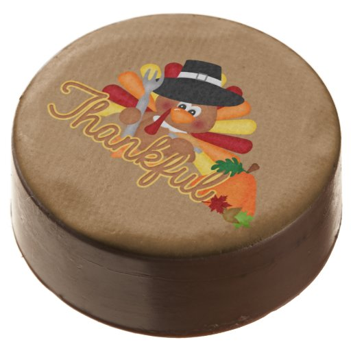 Thanksgiving Holiday Turkey dipped oreo cookie