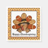 Thanksgiving Holiday Turkey paper napkins