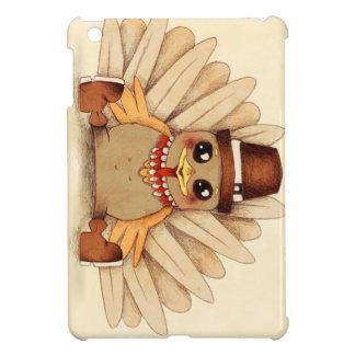 Thanksgiving Holiday Turkey Pilgrim Art Drawing iPad Mini Covers