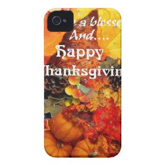 Thanksgiving horn of plenty iPhone 4 case
