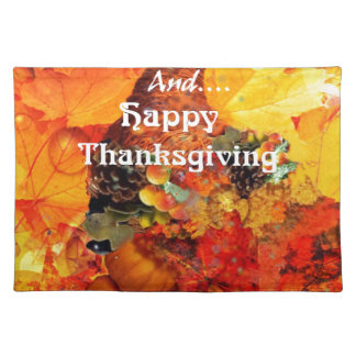 Thanksgiving horn of plenty placemat