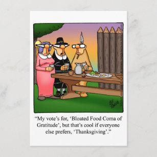 "Thanksgiving Humor ""Food Coma"" Dinner Invitations"