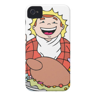 Thanksgiving Hungry Man Feast iPhone 4 Cover