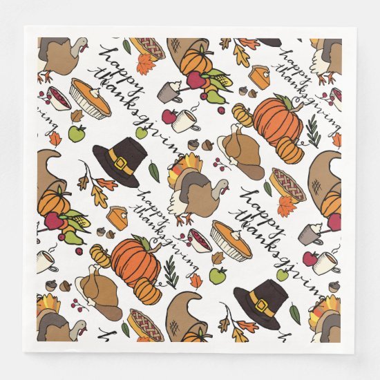 Thanksgiving Icons, Holiday Napkins