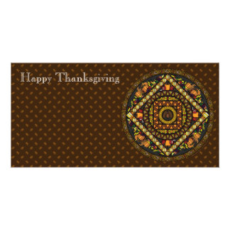 Thanksgiving Icons Photo Card
