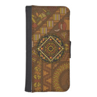 Thanksgiving Icons Smartphone Wallet Case Phone Wallet Case