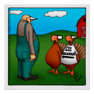 """Thanksgiving """"I'm With Delicious"""" Poster"""