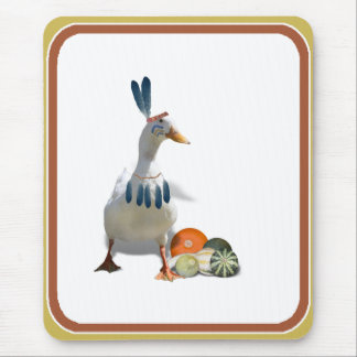 Thanksgiving Indian Duck Mouse Pad