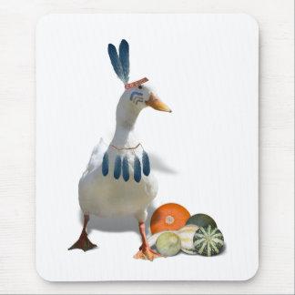 Thanksgiving Indian Duck Mousepad