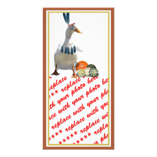 Thanksgiving Indian Duck Personalized Photo Card