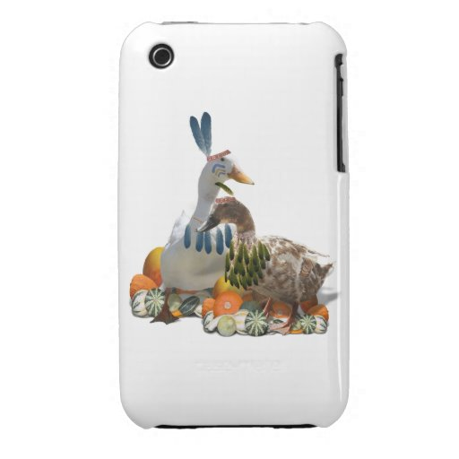 Thanksgiving Indian Ducks iPhone 3 Case-Mate Cases