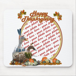 Thanksgiving Indian Ducks Photo Frame Mouse Pad